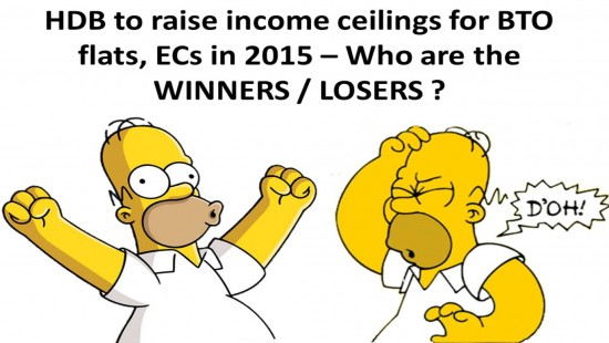 Who are winners losers in the HDB income ceiling change for EC