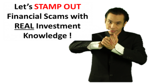 Stamp out financial scams